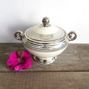 Vintage | TST Platinum Bands Sugar Bowl